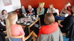 Au pair café i kyrkan. Foto Mattias Rolund 2012.
