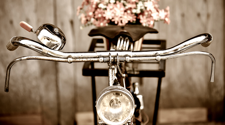 Cykel- sommarbild