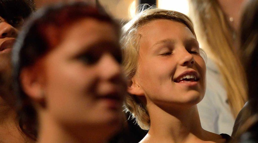 Ungdomskör. Foto Magnus Aronson IKON.